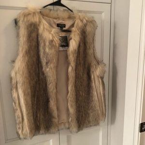 Topshop Faux Fur Vest NWT